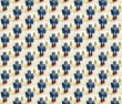 Blue Robot - wallpaper and fabric