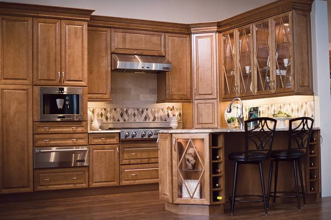 Local directbuy named best of indy in kitchen and bath for Cinnamon colored kitchen cabinets