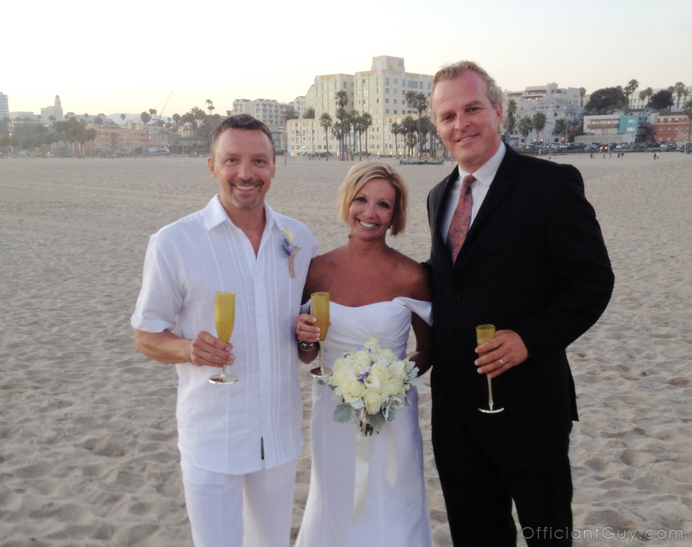 Officiant Guy A Wedding In Los Angeles After Beach WeddingOfficiant