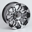 Summit Racing 375 Series Black Ultimate Eight Wheel