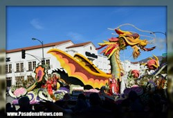 Smoking Dragon Rose Parade Float