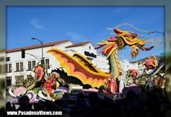 Smoking Dragon Rose Parade Float