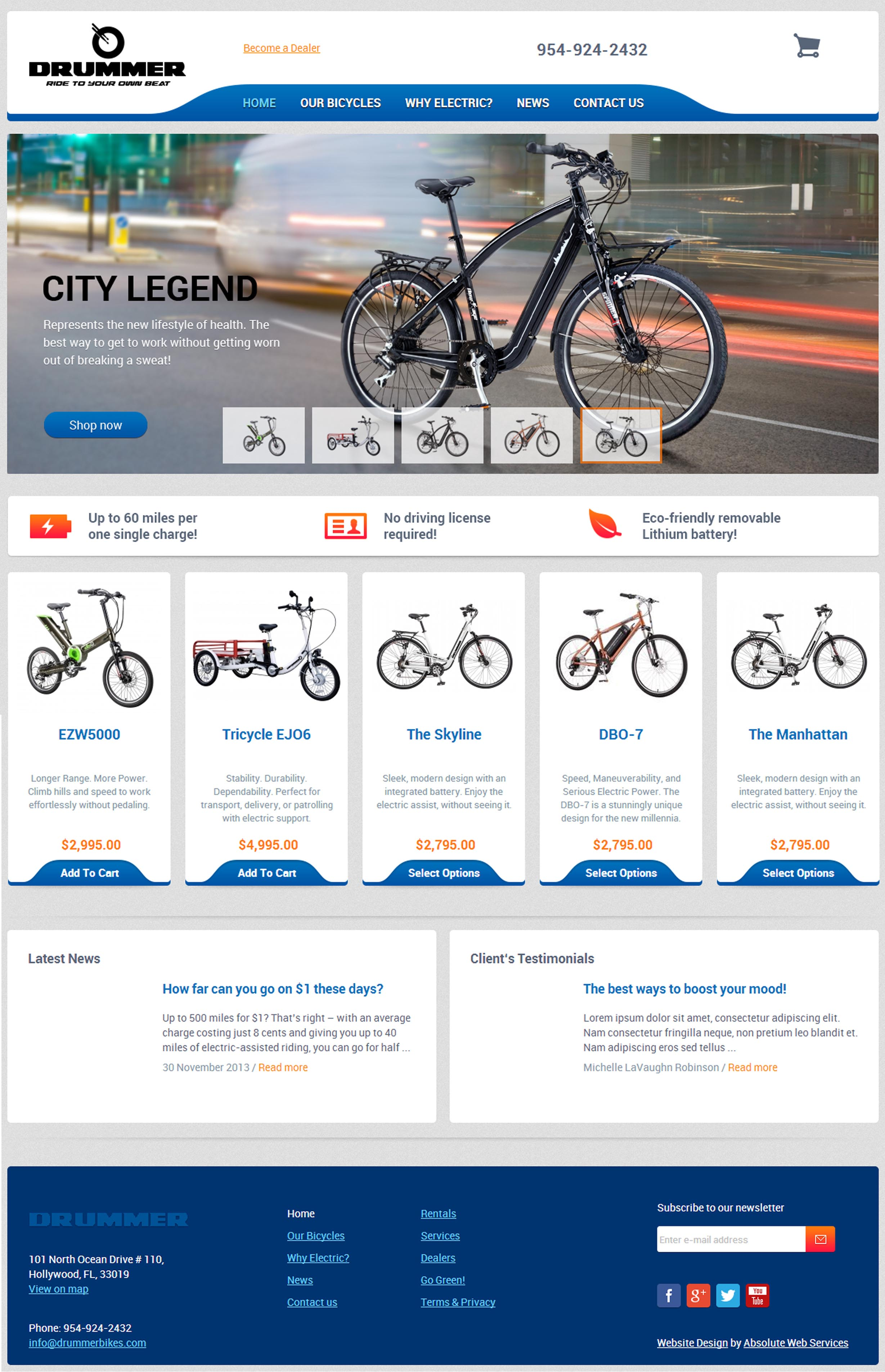 drummer bikes contracts miami web design firm absolute web