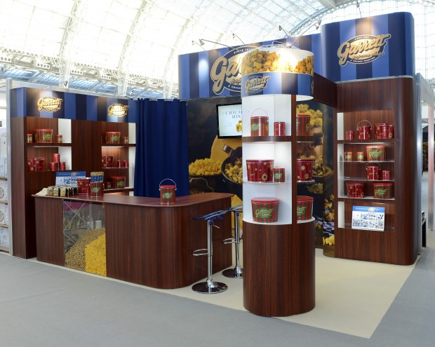 Exhibition Booth Design Uk : Garrett popcorn s successful exhibition stand at the bbc