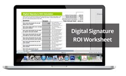 SIGNiX releases a free worksheet to calculate the ROI of adopting digital signature technology.