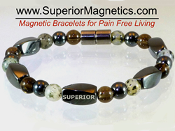 Magnetic bracelet for pain relief