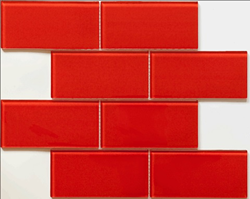 Martini Mosaic glass mosaic tile blocco fireberry md43