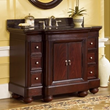"Mount Vernon 48"" Bathroom Vanity with a Merlot Sherwin Williams Finish Including a Black Granite Top, Kaco Model# 893-4800-AB"