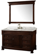 "Wyndham Collection WC-TS55-DKCH - andover 55"" traditional Bathroom Vanity set - dark cherry"