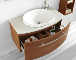 "Virtu ES-1040 - Anabelle 40""- Bathroom Vanity in Walnut"