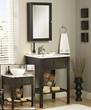 "sagehill designs pa2421 24"" Bathroom Vanity cabinet with open display shelf from the citation collection"