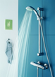 Grohe 28435 28 435 tempesta three function hand shower with hose and slide bar