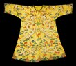 """Imperial kesi dragon robe, China, Qing Dynasty (1644-1911), the front woven with a pair of magnificent five-clawed dragons facing each other in gold thread, on an imperial yellow background, 41"""" x 28""""."""