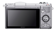 Sony Alpha 5000 Mirrorless Compact Interchangeable Lens Digital Camera - Silver - Back