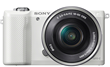 Sony a5000 Mirrorless Digital Camera with SELP1650 Lens - White