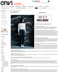 Screenshot of Style Feature with Musician Daniela Andrade