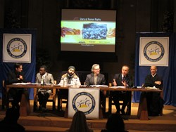 Religious leaders participated in a panel discussion in Brescia, Italy, December 18, 2013, at a Human Rights Day conference hosted by the Association for Human Rights and Tolerance.