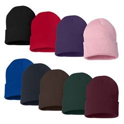 Easy to iron on patches and appliques to these for a custom warm beanie knit hat