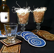 recycled glass coasters