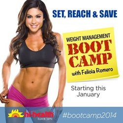 Set, Reach & Save : Weight Management Boot Camp 2014 by Hi-Health's Felicia Romero