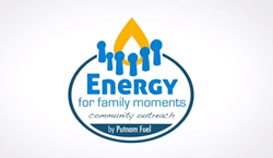 This logo represents NH Families Raising Their Energy Together -in Partnership with Putnam Fuel and other small area businesses and charities