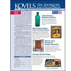 Kovels on Antiques and Collectibles Newsletter January 2014 Issue