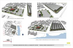 Overall project overlooking bay with community context