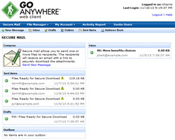 GoAnywhere Services secure file sharing email service