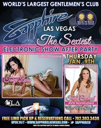 Tory Lane and Teal Conrad at Sapphire Gentlemen's Club during CES 2014