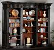 AFD I-JM/HWC004/BK Buckingham Library Bookcase-BK