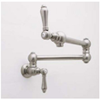 rohl a1451lm-2 lead free compliant double handle wall mounted pot filler from the country kitchen series