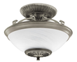 hunter 21817 brushed nickel illumi-heat semi-flush mount ceiling fixture