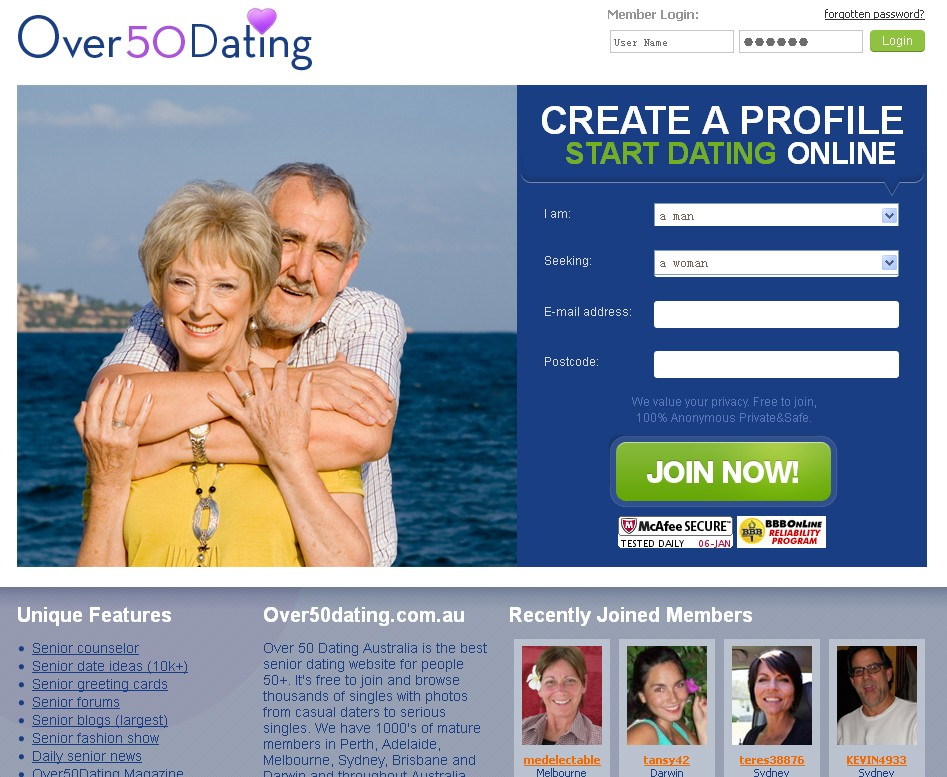 new dating site for over 50