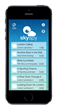 SkySpy iPhone 5 menu screen