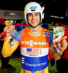 Chris Mazdzer Silver Medal Luge