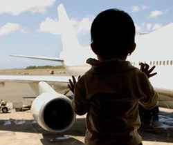 Child-free zones on planes