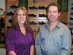 Family Footwear Center Owners, Scott and Laura Feathers