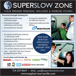 Super Slow Zone, Plum-Murrysville 'New Year, New You' Open House