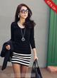 Carefree Korean Style Slim Long Sleeve Short Day Dress