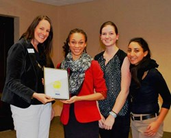 "101 Mobility accepts their ""High Five"" award from Coastal Carolinas MDA"