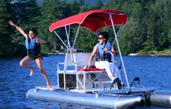 Aqua Cycle Pontoon Paddle Boat