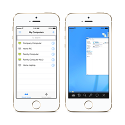 Control remote desktop with your iPhone or iPad.