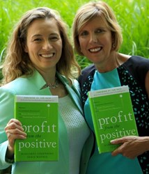 Image of Senia Maymin and Margaret Greenberg with their book Profit from the Positive