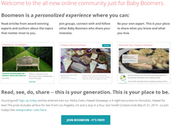Boomeon is the premier online community for Baby Boomers
