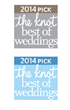 """Best of Weddings"" 2014 Winner, ""Best of Weddings"" 2014 Induction to Hall of Fame Winner"