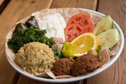 One of Green's top seller, the Mediterranean bowl, is both vegan and kosher
