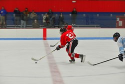 Jonathan Bendorf '17 leads the offense of Hun School varsity ice hockey with 23 goals and 11 assists.