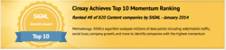 Cinsay MyCinsay Top Ten Award Content eCommerce Video and Mobile