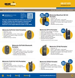 The BearCom Wireless Products, Services & Solutions Guide includes an update on the latest developments in digital two-way radios.