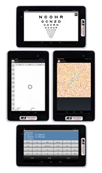 Use the Tablet for Near Visual Acuity testing as well as for controlling the M&S Smart System.